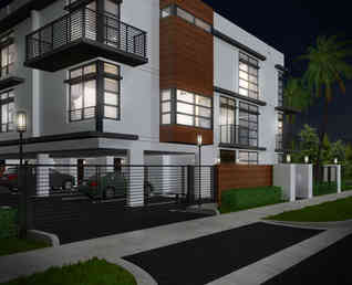 Townhomes at Night