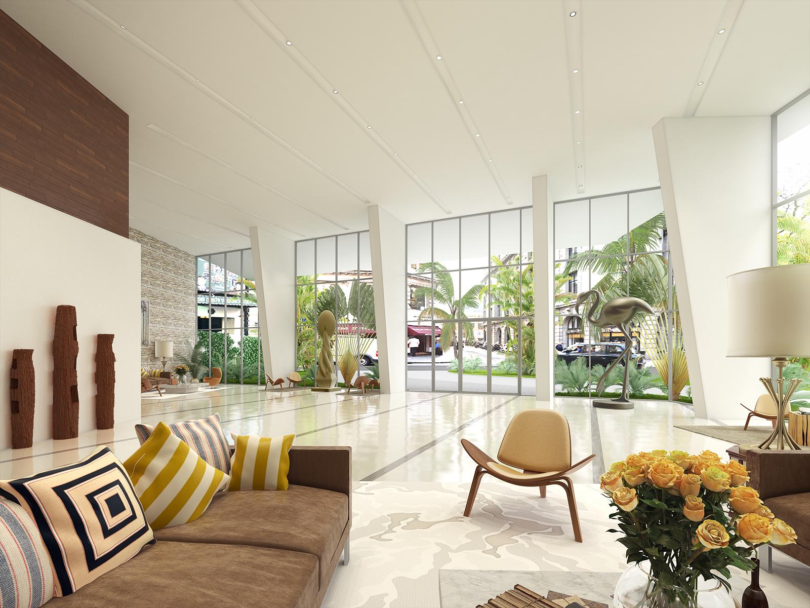 Luxury Condo Lobby Entrance