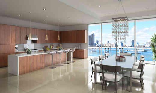 Luxury Kitchen Overlooking Miami