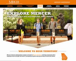 Mercer Admissions Web Site