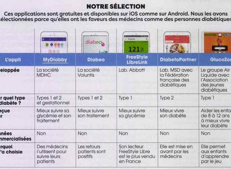 La plateforme myDiabby citée dans le top 5 des applications diabète de Santé Magazine.