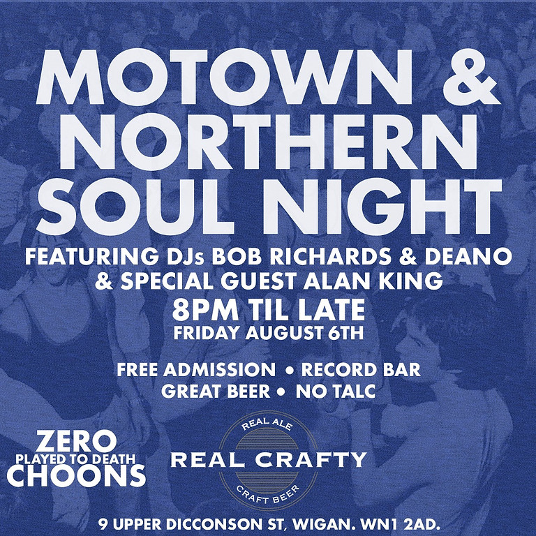 Motown & Northern Soul Night @ Real Crafty