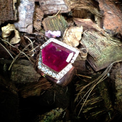 RUBY SLICE WITH DIAMONDS size 9 #HAN3B-RG850