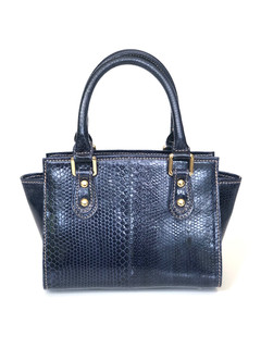 SEA SNAKE SMALL SATCHEL IN NAVY BLUE $49