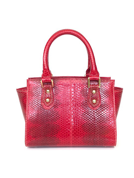 SEA SNAKE SMALL SATCHEL FLAME RED $495