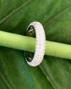 micro pave cz on sterling silver ring #CUV20RG250