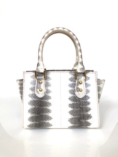 SEA SNAKE SMALL SATCHEL ELECTRIC BLUE $495