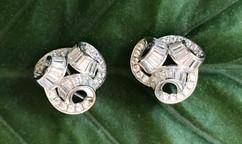 cz on sterling silver earrings #CLA1WER390