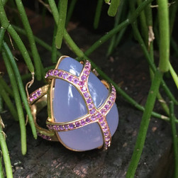 CHALCEDONY AND PINK SAPPHIRE #SEN12RG650