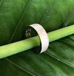 micro pave cz on sterling silver ring #CUV21RG250