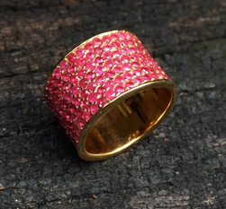 RUBY PAVE CIGAR STUB RING #LIK2A-RG850