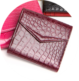ALVEAR FRENCH WALLET wine shiny