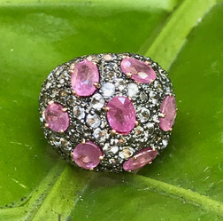 RUBY WITH WHITE TOPAZ #PEA8D-RG850