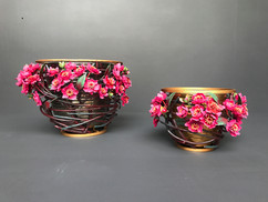 english rose vases