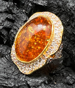 Amber 13cts, orange, yellow & fancy Sapphire, Zircon, Tanzanite