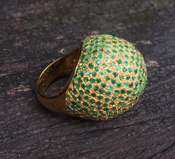 EMERALD PAVE ON 18K YELLOW GOLD VERMEIL #LUS19ARG990