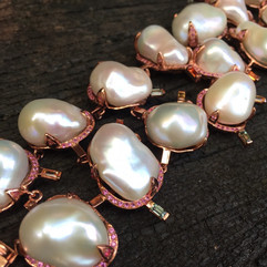BAROQUE PEARLS PINK & FANCY SAPPHIRE #LUS14BL3500