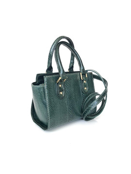 SEA SNAKE SMALL SATCHEL FOREST GREEN $495