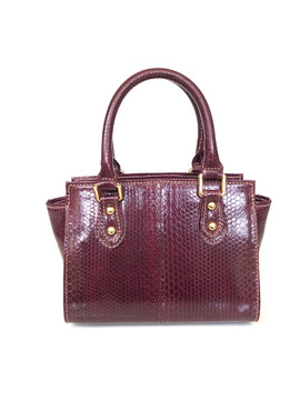SEA SNAKE SMALL SATCHEL IN WINE $495