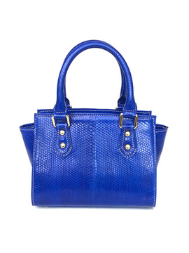 SMALL SATCHEL ELECTRIC BLUE $495