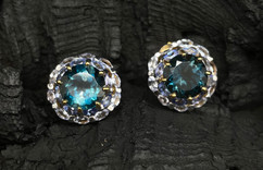 London Blue Topaz & Tanzanite Earrings