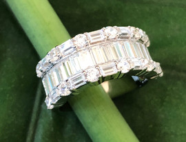 baguette shape cz on sterling silver (7 & 8) #CUV22RG395