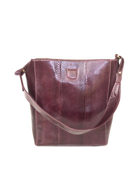 SEA SNAKE TOTE WINE COLOR $675