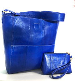 SEA SNAKE TOTE ELECTRIC BLUE $675