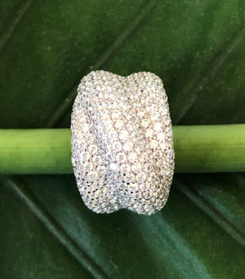 micro pave cz on sterling silver ring #CUV16RG375