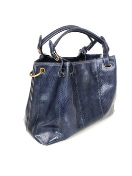 SEA SNAKE SATCHEL NAVY BLUE $675