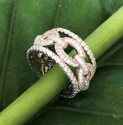 micro pave cz on sterling silver ring #CUV22RG375