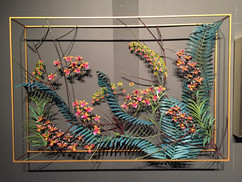 orchid wall panel