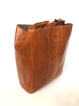 SEA SNAKE TOTE COGNAC COLOR $675