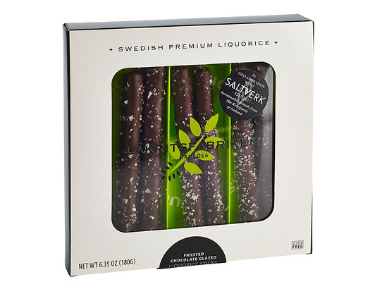 CHOCOLATE GLAZED LIQUORICE STICKS FROSTY 180G