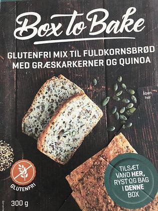 Glúteinlaust heilkornabrauð með graskersfræjum og kínóa