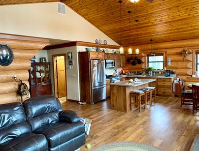 Log home interior