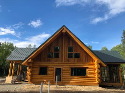 Handscribed log home