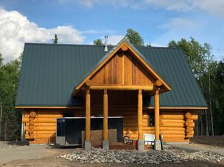 Log entrance