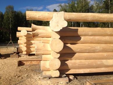 Artistic flared log ends