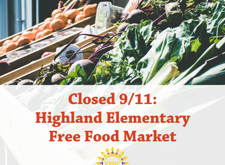 Free Food Market Closed @ Highland