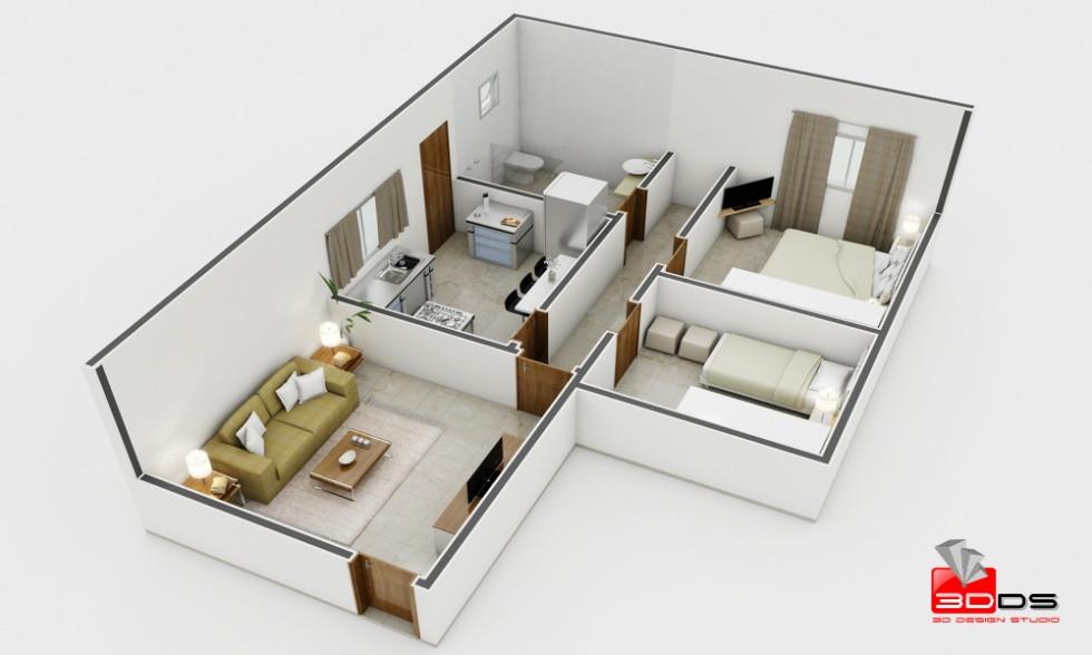 Planta Humanizada 3D Residencial