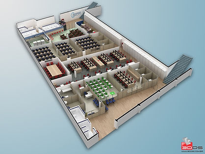 Planta Humanizada 3D de Call Center