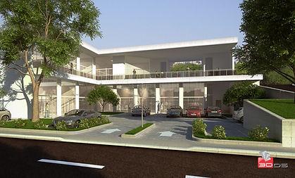 Maquete Eletrônica 3D Externa Centro Comercial