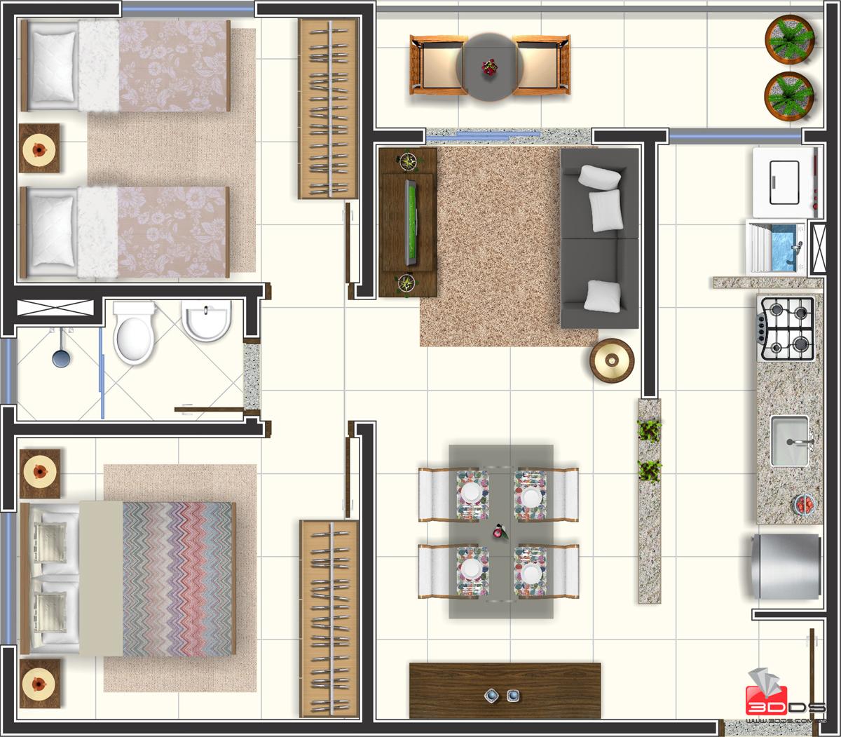 Planta Humanizada Apartamento 331 02