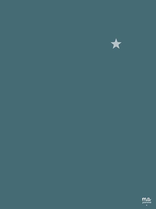 BLEU GRIS - Toile