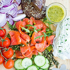 Smoked Salmon Wooden Platter