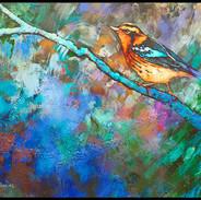 BIRD WITH PURPLE TAIL