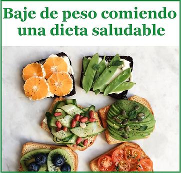 baje de peso comiendo una dieta saludabl