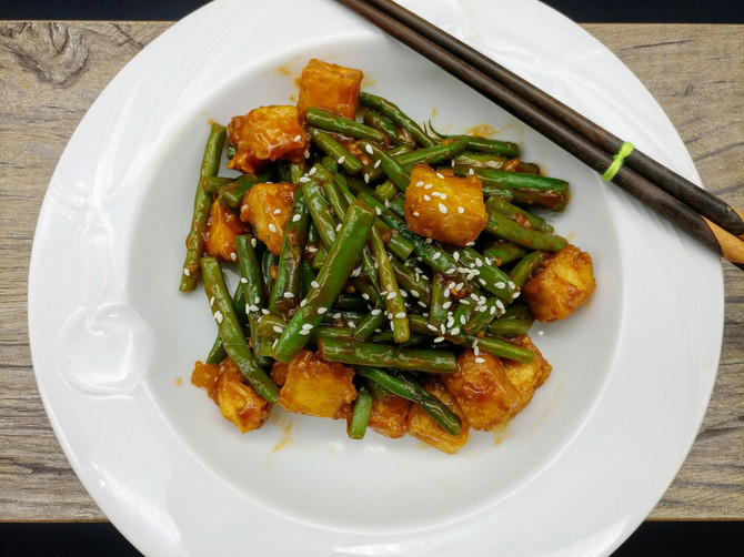 Tofu and String Beans Stir fry