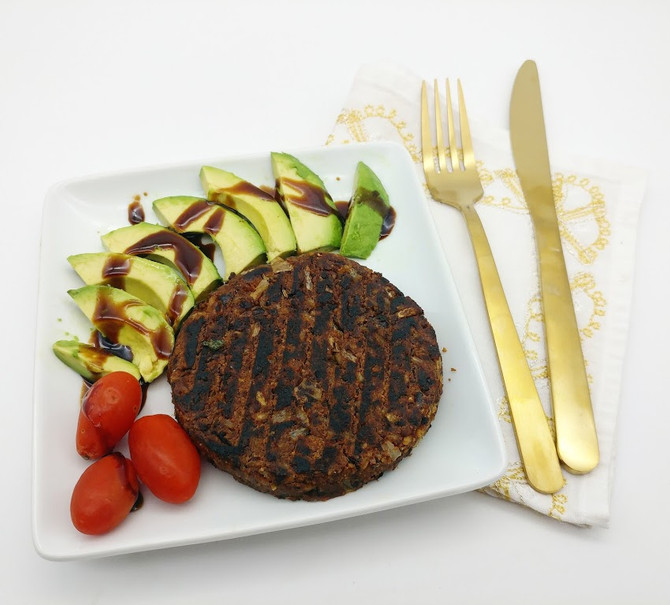 Middle Eastern style Vegan Burger
